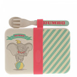 Dumbo Bamboo Snack Box with Cutlery Set_