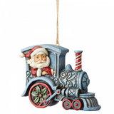Santa in Train Engine_
