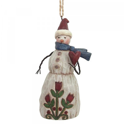 Jim Shore Snowman with heart (hanging ornament)