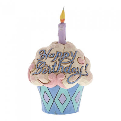 Jim Shore beeldje Mini Birthday Cupcake