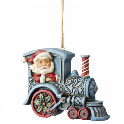 Santa in Train Engine