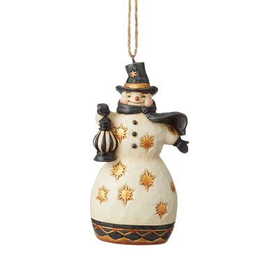 Jim Shore Black & Gold Snowman