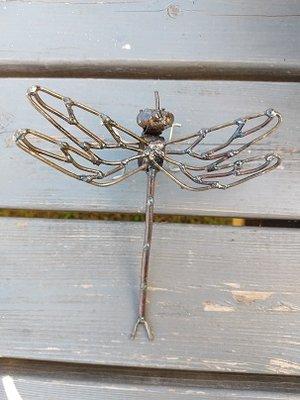 Libel met opengewerkte vleugels