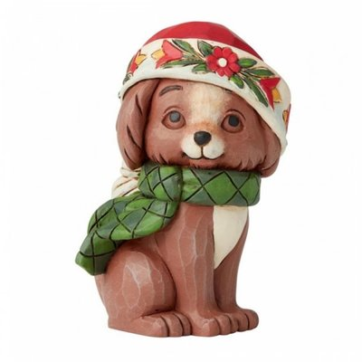 Jim Shore Christmas Puppy miniature