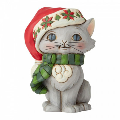 Jim Shore Christmas Kitten miniature
