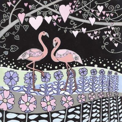 "Kaart ""Flamingo's"""