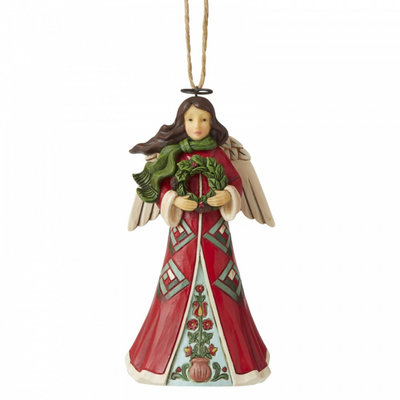 Jim Shore Angel with Wreath (Hanging Ornament)