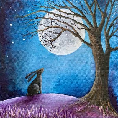 """Kaart """"Moon gazing"""""""