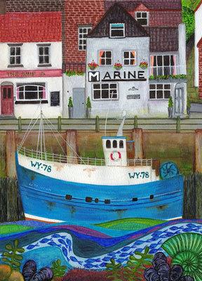 """Kaart """"Harbour Delights"""""""