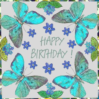 Aardappelkaart Butterfly Birthday