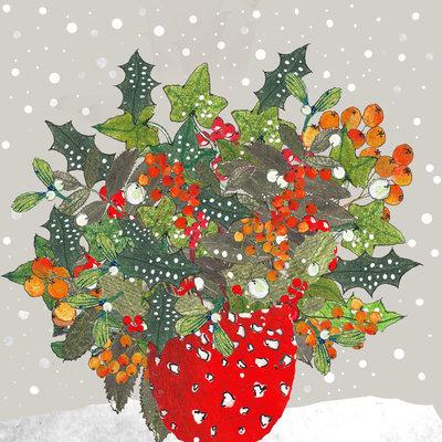 Aardappelkaart Christmas Vase