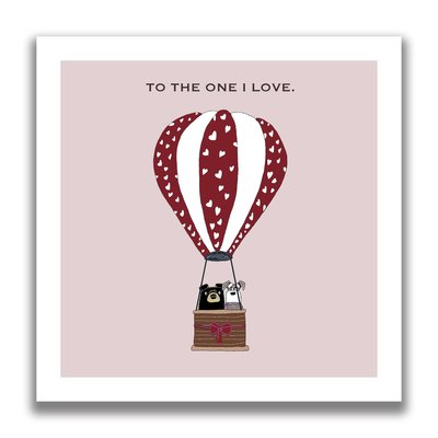 Kaart To the One I Love Balloon