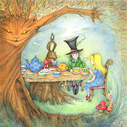 Kaart Mad Hatters Tea Party