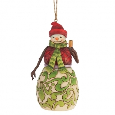 Red and Green Snowman (Hanging Ornament)