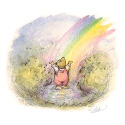 Kaart Standing in a Rainbow