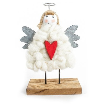 Engel met wollen jas