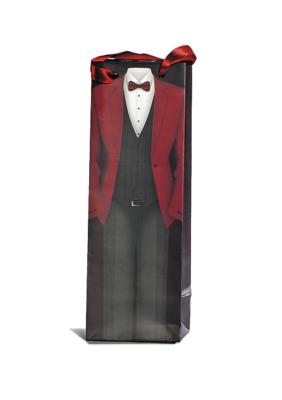 Flessenzak Gentleman rood
