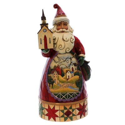 Grace at Christmastime: Church scene Santa