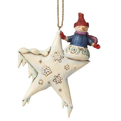 Snowman on a Star (Hanging ornament)
