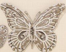 Aan de wand vlinder metaal