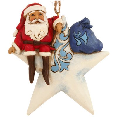 Jim Shore Star Shaped Santa (Hanging ornament)