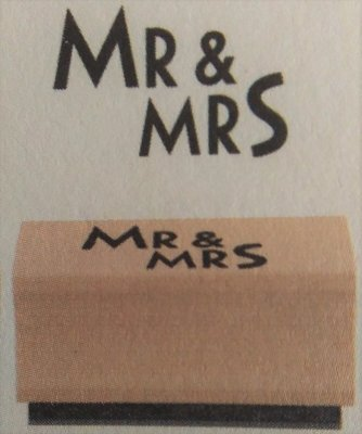 Stempel Mr & Mrs