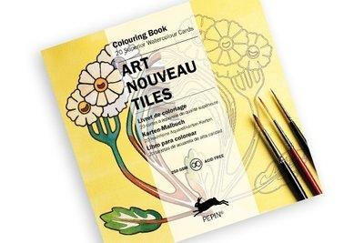 Kleurkaartenboek Art Nouveau Tiles