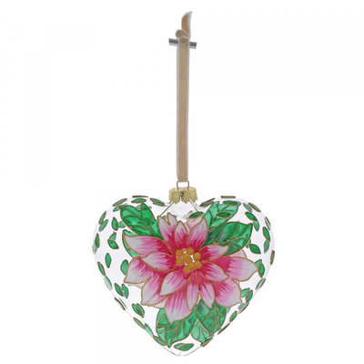 Pink Flower hanging ornament