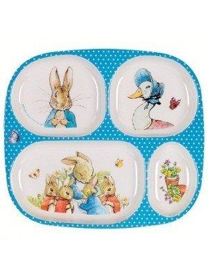 Peter rabbit bord 4 vakken
