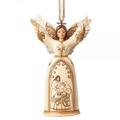 Nativity Angel Ivory/Gold (Hanging ornament)