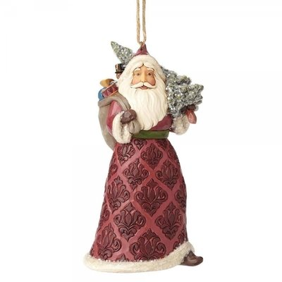 Victorian Santa with Toybag (hanging ornament)