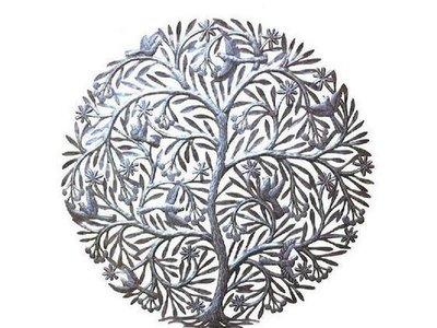 Levensboom met vogels en kersen groot