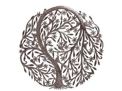 Levensboom met bloemen en vogels groot