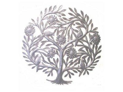 Levensboom met  zonnebloemen