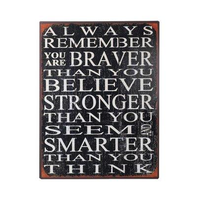 Wandbord 'Always remember'