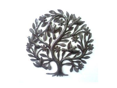 Levensboom klein met 5 vogels