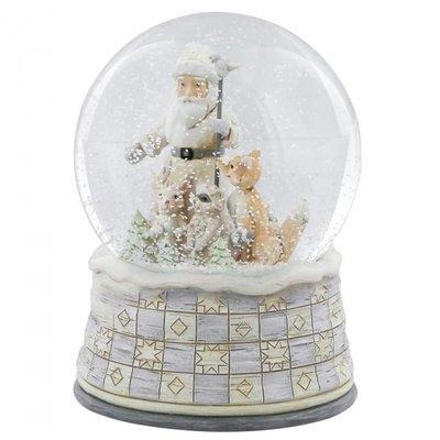 White Woodland Santa Sneeuwbol