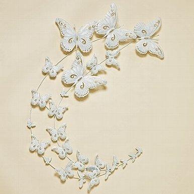 Wandornament Witte Vlinders