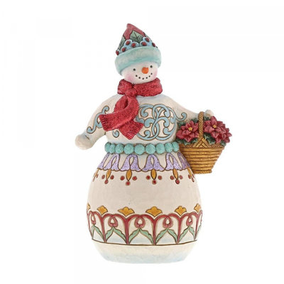 Winter Wonderland Snowman with Basket