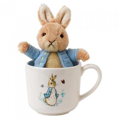 Peter Rabbit beker met knuffel