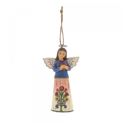 Jim Shore Folklore Angel with Heart(hanging ornament)