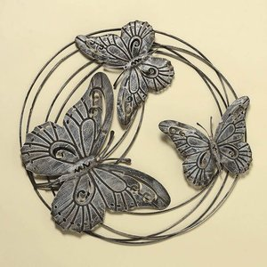 Wandornament Vlinders medium