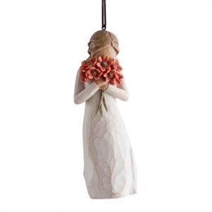 Willow Tree surrounded by love hanging ornament