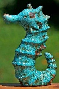 Zeepaard Turquoise Terracotta